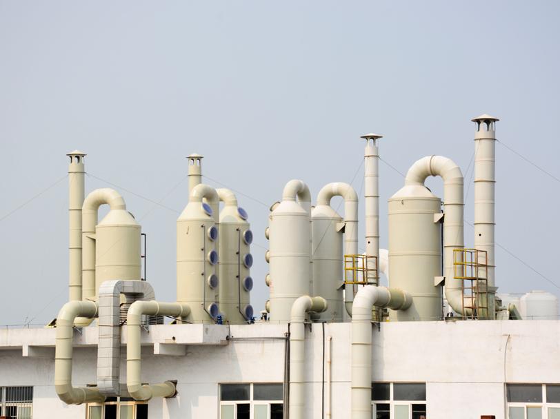 化工厂废气洗涤塔安装