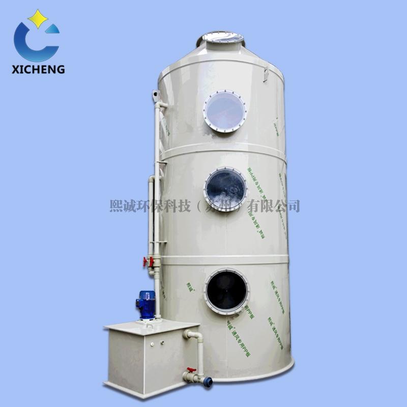 用于工业除尘和废气处理的PP洗涤塔的工艺流程!